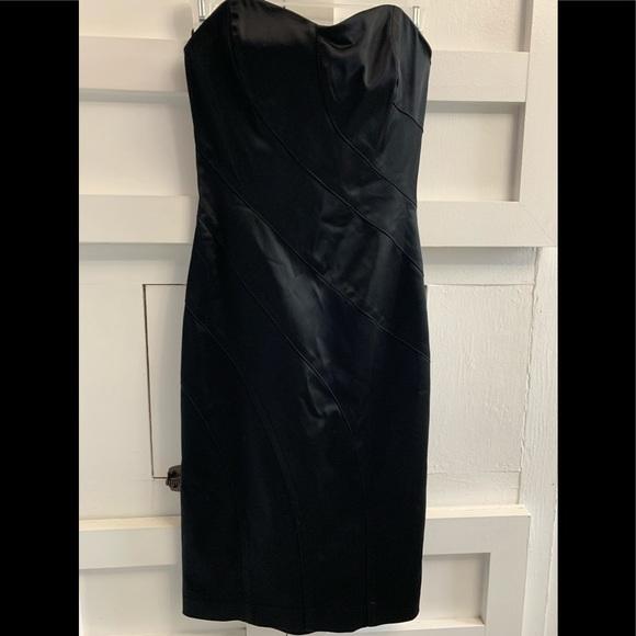 Bebe black strapless dress
